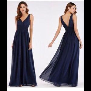 EverPretty Navy Blue Bridesmaid Maxi Dress Size 14
